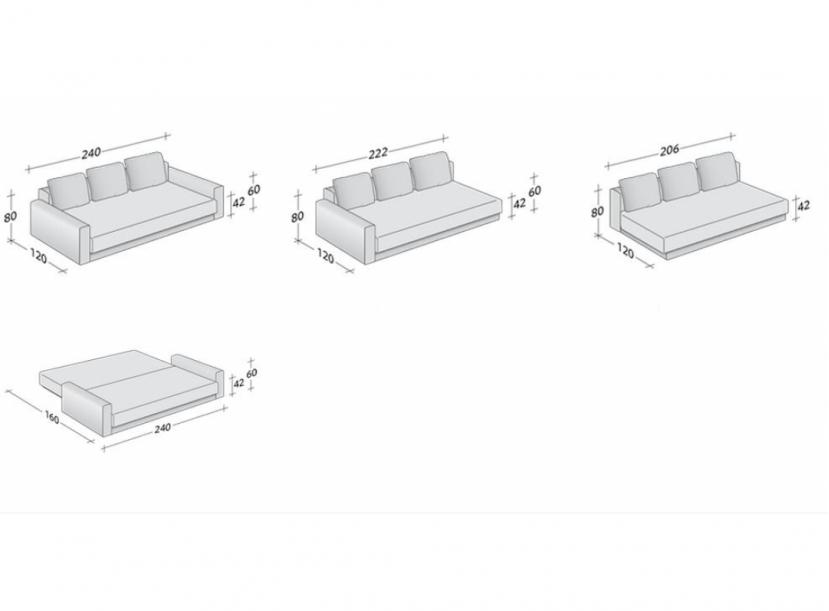 Диван-кровать FLOU Piazza Duomo