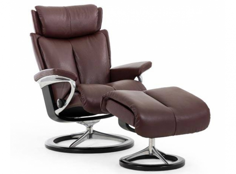 Кресло-реклайнер с пуфом Stressless Magic (S)