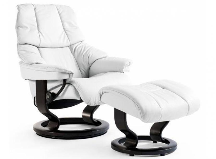 Кресло с пуфом Stressless Reno (M) Classic