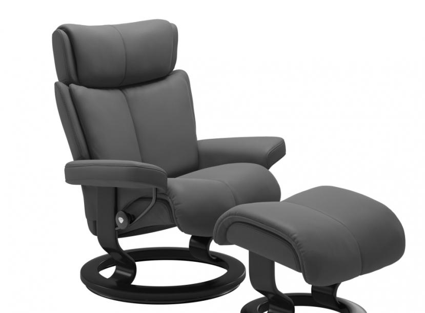 Кресло с пуфом Stressless MAGIC(M) Signature chair