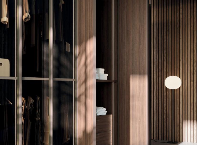 Шкаф 5 дверный распашной ORME ANTA GLASS