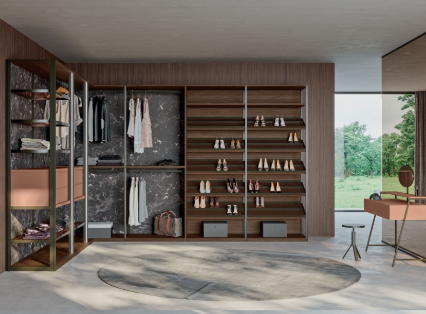 Гардеробная ORME Skeletro walk-in closet
