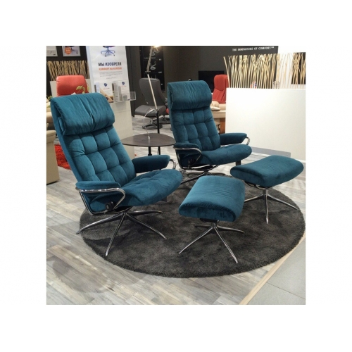 Кресло c пуфом Stressless London High Back