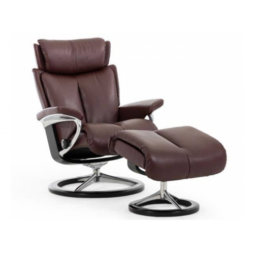 Кресло с пуфом Stressless MAGIC(M) Signature chair