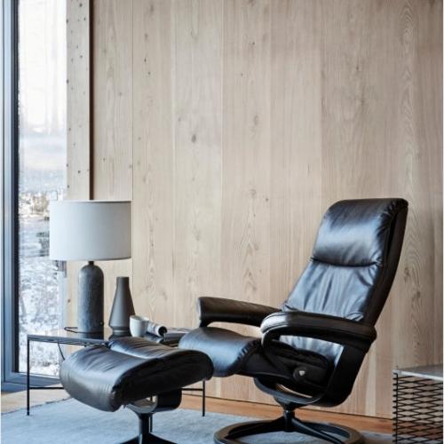 Кресло с пуфом STRESSLESS VIEW Signature base