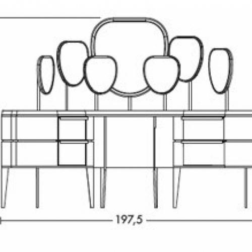 Стол туалетный NATEVO KARA MAKE-UP UNIT
