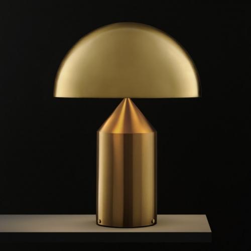Настольная лампа OLUCE ATOLLO 239OR Gold 50 cm dimmer